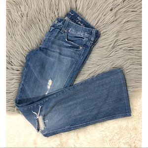7 for all Mankind Lexie Petite A Pocket Distressed